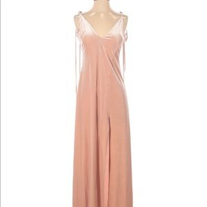 Makers of Dreams Dare You crushed rose velvet maxi